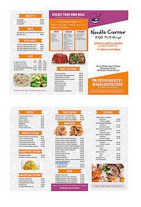英文三折页菜单价格表