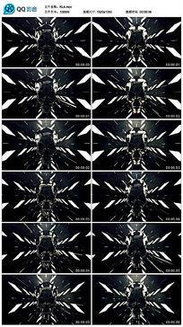大气动感万圣节恐怖金属led骷髅视频素材