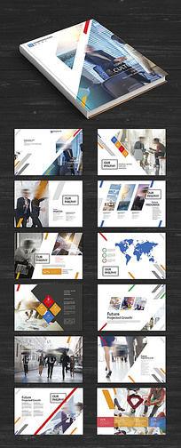 蓝橙个性企业画册