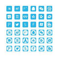 扁平化社交图标 AI