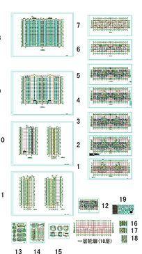 高层住宅建筑图纸 dwg