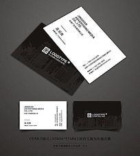 黑色房地产名片设计