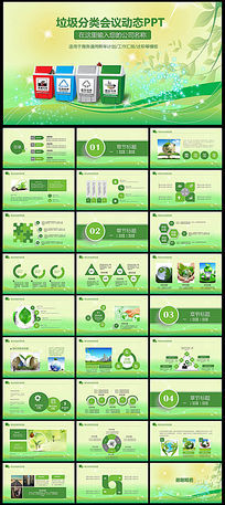 绿色环保局垃圾分类幼儿环保PPT