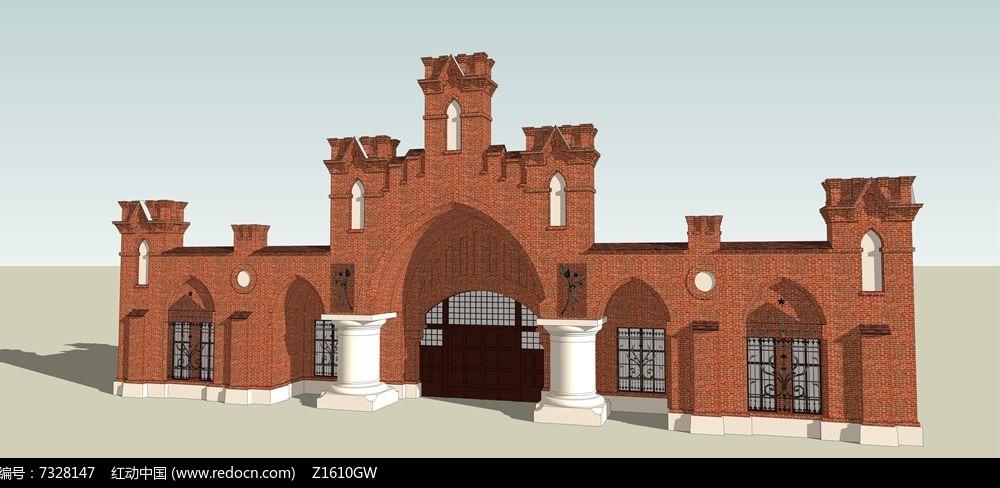 欧式小区大门入口图片
