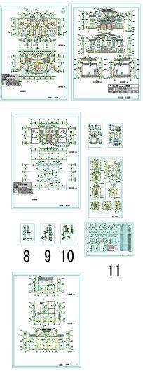 三层住宅建筑图纸