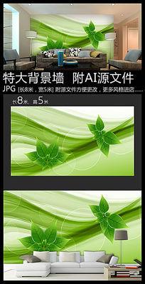生态环保背景墙装饰画