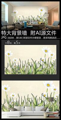 生态植物环保背景墙装饰画