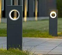 现在简约矩形圆环镂空草坪灯 JPG