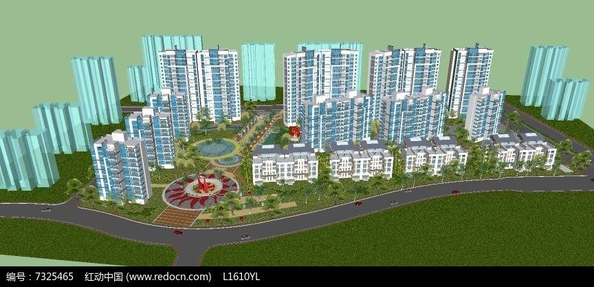 新中式小区图片