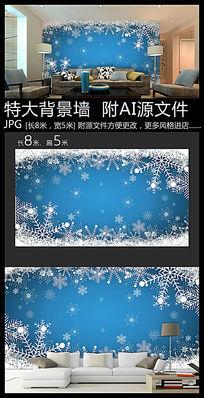雪花背景墙装饰画