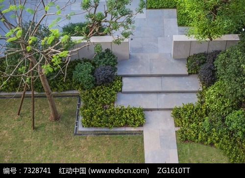 中式矮墙隔断景观