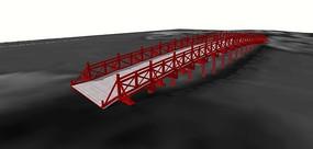 中式拱桥模型