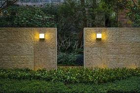 中式景墙壁灯