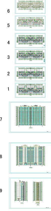 住宅建筑平面户型图纸 dwg