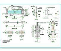 住宅围墙建筑设计CAD图