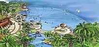 滨海公园手绘效果图 JPG