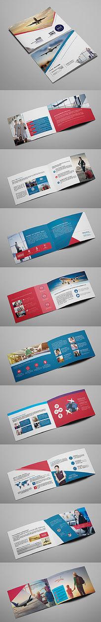 大气简洁航空旅游公司形象画册版式
