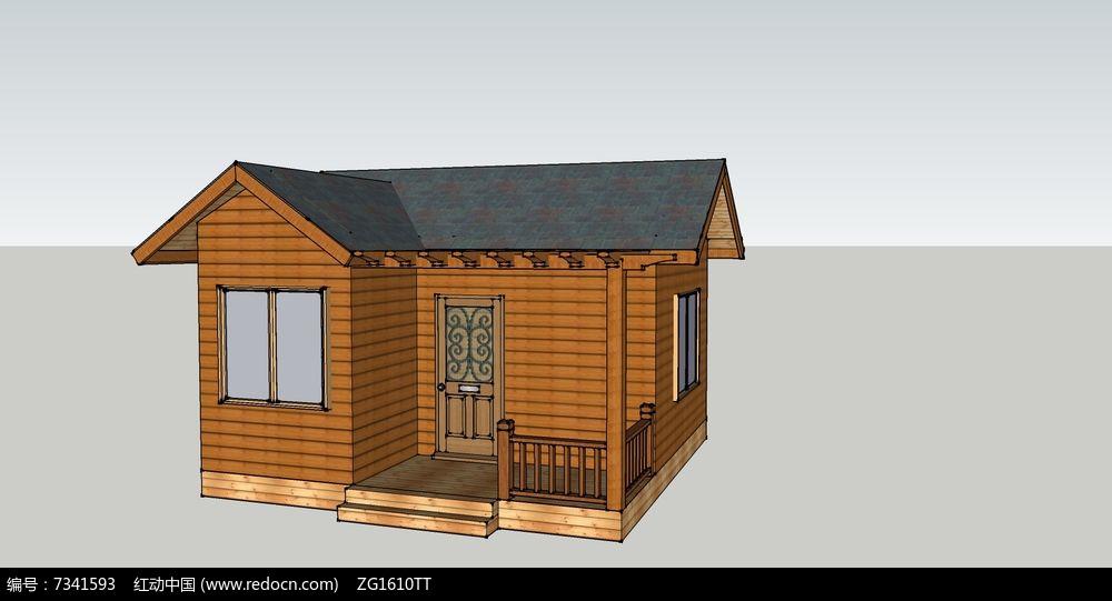 防腐木花园建筑度假小木屋