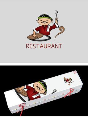 饭馆美食类标志设计