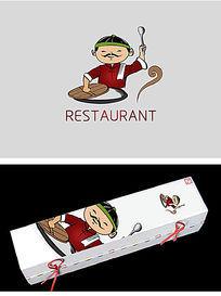 饭馆美食类标志设计 PSD