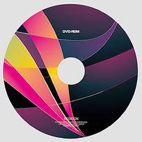 个性彩色弧线光盘