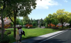 街旁公园效果图