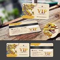 龙纹金龙浮雕VIP卡