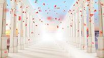 罗马柱婚庆背景视频素材