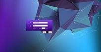 企业网站登陆界面设计 PSD