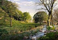 乡野自然景观效果图