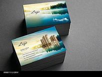 中国风水墨房地产名片设计