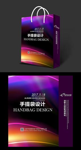 绚丽通用手提袋设计素材 PSD