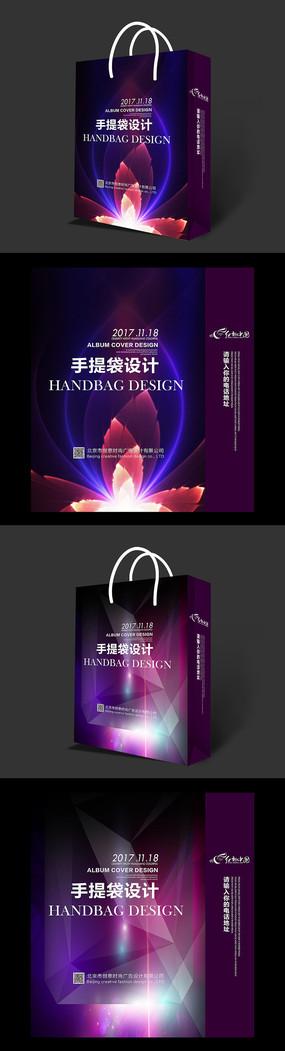 酷炫艳丽招商手提袋设计素材