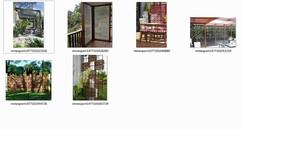 图案造型花园景墙