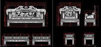 中式古典家具宝马沙发CAD结构生产图