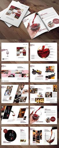 大气红酒画册板式