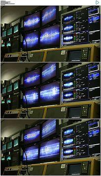 电视演播室机房设备实拍视频素材