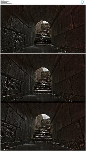 古老的地下隧道实拍视频素材