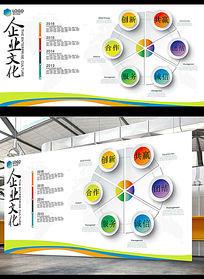 简约时尚商务企业形象墙模板