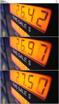 加油站汽油数字变化实拍视频素材