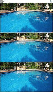 酒店户外游泳池实拍视频素材