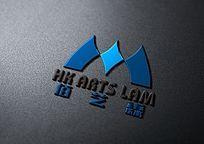 蓝色大气现代标志设计