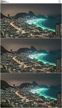 里约热内卢城市海湾实拍视频素材 mov