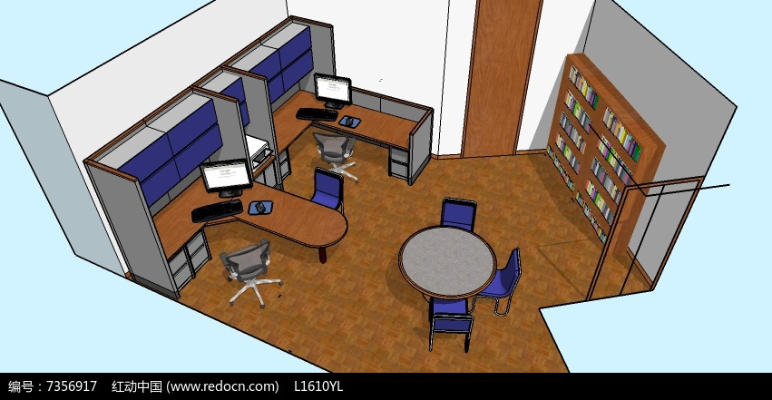 专辑 室内设计3d模型库 办公会议模型 办公桌椅专辑 当前  请您分享