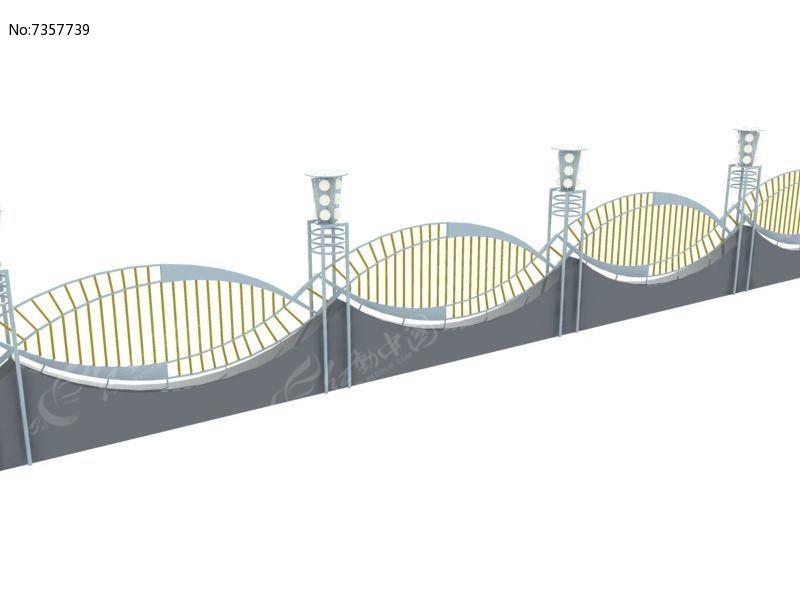 铁艺欧式围墙栏杆模型图片