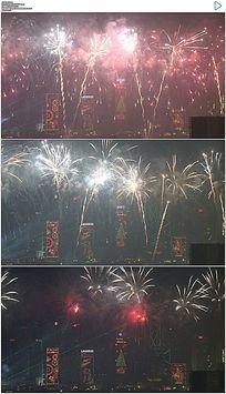 香港新年烟花实拍视频素材