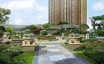 住宅绿化空间效果图