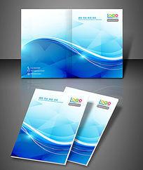 动感光芒弧线科技创意封面PSD