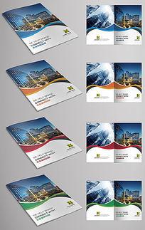 曲线时尚企业画册宣传册封面设计