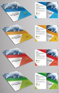 四色简约企业画册宣传册封面设计